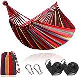 Hamaca colgante de tela de jardín, camping, senderismo, actividades al aire libre, saco para hamaca, 2 cuerdas para el anclaje al árbol
