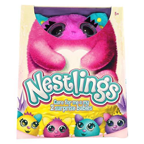 Nestlings Rosa, Mascota interactiva. Cuídala y sus bebés nacerán. Disponible en Rosa y Azul , color/modelo surtido