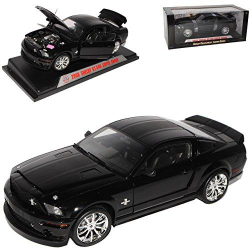 Shelby Ford Mustang GT-500 Super Snake Schwarz mit Schwarzen Streifen V 1. Generation 2004-2009 1/18 Collectibles Modell Auto mit individiuellem Wunschkennzeichen