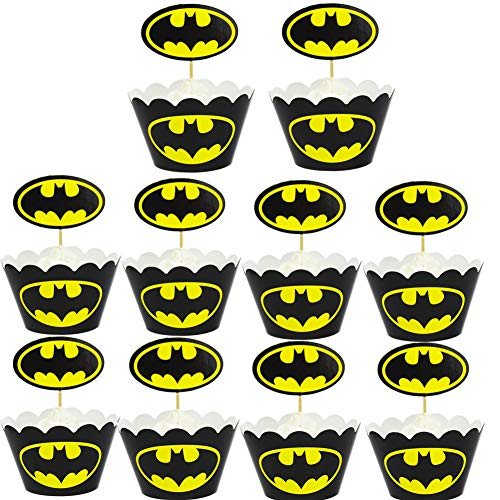 12PC Cake Topper for Batman Cake Topper Cupcake Toppers,Birthday Party Cake Cupcake, Decorations Kid's Birthday Avengers Party Decoration Supplies