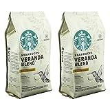 Starbucks Veranda Blend Kaffee, 2er Set, Blonde Roast, Röstkaffee, Mild mit Kakao-Noten, Gemahlen, 2 x 200 g
