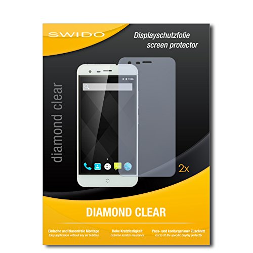 SWIDO 2 x Bildschirmschutzfolie Ulefone Paris Arc HD Schutzfolie Folie DiamondClear unsichtbar