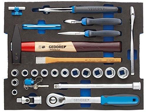 Gedore 1100 CT2-01 Surtido profesional en módulo 2/2 L-BOXX 136, 26 pzas