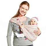 Mamaway Ring Sling Baby Wrap Carrier for Infant, Newborn, Toddler, Nursing Cover,...