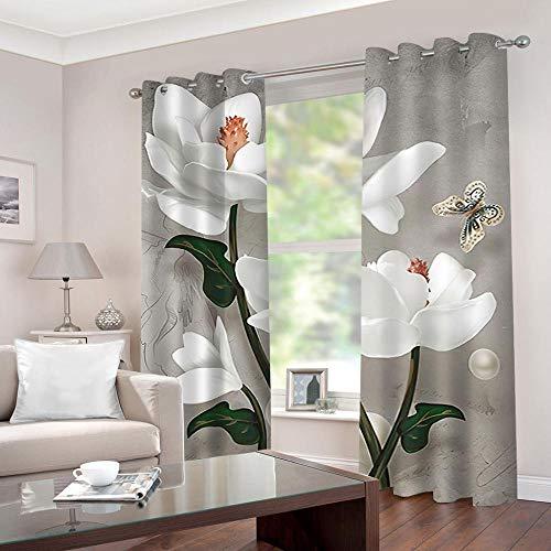 Foto visillos flores foto cortina panorama cortina visillos 3d impresión fotográfica
