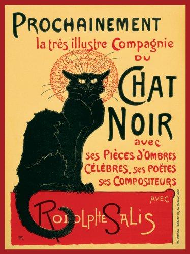 Pyramid International Chat Noir, Tela Digitale, 60 cm x 80 cm
