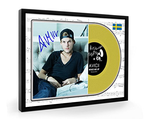 We Love Guitars Avicii Wake Me Up Framed Goldene Schallplatte Display Premium Edition (O)