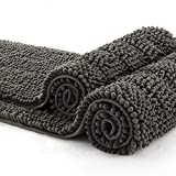 Best Bathroom Rugs - Grey Bathroom Rugs and Mats Sets 2 Piece Review