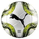 Puma Final 3 Tournament Size 4 (FIFA Quality) Balón de Fútbol, Unisex, White/Lemon Tonic Black