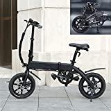 Bicicleta eléctrica Velocidad máxima 25 KM/H Bici montaña Voltaje/Capacidad 36V / 10AH Bici Plegable Endurance 40-45KM, Disco de Freno Adecuado para una Altura Inferior a 178 cm.