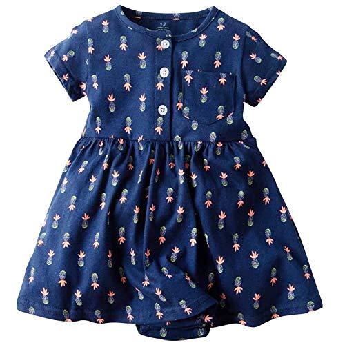 YOUNGER TREE Toddler Kid Baby Girl Dress Polka Dot Ruffle Sleeveless Cross Straps Dresses 12-18 Months, White /& Black