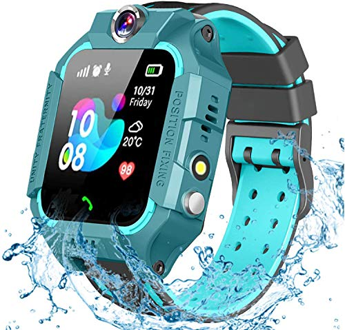 MESEVEN Smartwatch Niños, 2020 Nuevo Reloj Inteligente Niños con Flashlight, IP67 LBS SOS, Cámara, Smartwatch con Ranura para...
