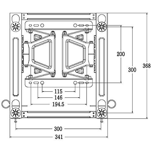 LG メーカー純正テレビ壁掛け金具 LSW350B VESA規格 300×300 (対応モデル 49-65インチ液晶テレビ)