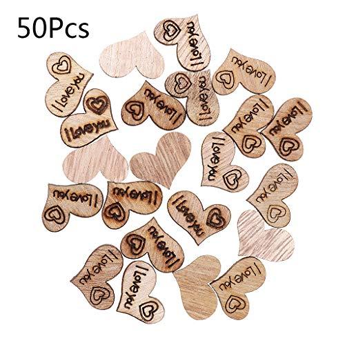 50 Stück Holzbasteleien, Holzherz
