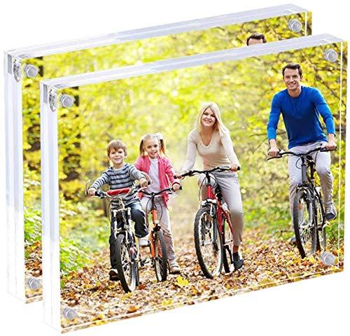Display4top Acrílico Transparente Imágenes Marcos,Marcos de Foto Acrílicos,Regalo de Cumpleaños y Vacaciones (13x18 CM Paquete de 2)