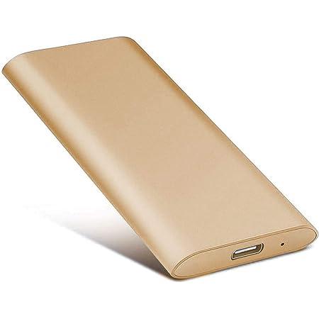 Laptop and Mac 2TB, Gold External Hard Drive 2TB Portable Hard Drive External for PC