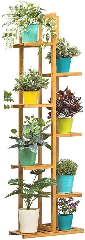 Flower Frame Bamboo Craft Flower Display Stand, Multi-Layer Flower Pot Rack Garden Balcony Indoor Storage Rack Rack (Size   7tier)