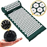 EasyRelief Acupressure Mat, Pillow & Massage Ball Set, New 2020 Eco-Friendly Acupuncture Mat