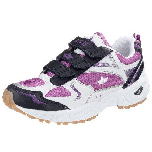 Lico Bob V Multisport Indoor Schuhe Mädchen, Weiß/ Lila/ Marine, 30 EU