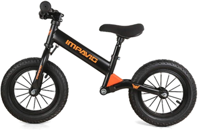 ofrecemos varias marcas famosas XIA Bicicleta para Niños Goma neumático neumático Equilibrio Coche 2-3-6 2-3-6 2-3-6 años Niño bebé Acero al Cochebono sin Pedal Dos Ruedas de Acero al Cochebono Scooter (Color   negro)  tiendas minoristas