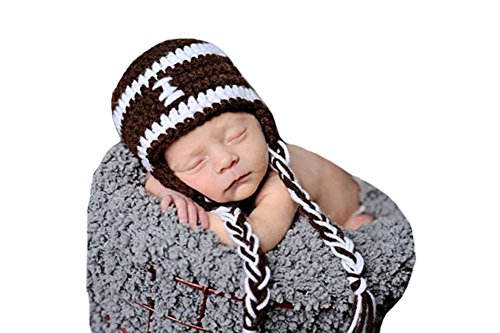 CX-Queen Baby Photography Prop Crochet Knit Sport Football Hat Cap Brown - http://coolthings.us