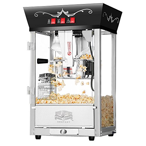 Great Deal! 6092 Great Northern Popcorn Black Antique Style Popcorn Popper Machine, 8 Ounce