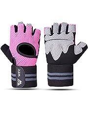 WESTWOOD FOX WFX Gewichtheffen Handschoenen voor Mannen Vrouwen Gym Handschoenen met Pols Wrap Ondersteuning voor Workout Training Handschoenen Oefening Fitness, Opknoping, Pull Ups, Pak voor Halter, Fietsen