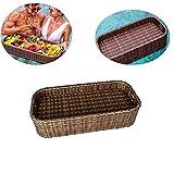 CRSD Schwimmender Rattan-Teller mit Schwimmbad, schwimmendes Frühstückstablett, für Erwachsene für Sandbänke, Spas, Bad, Poolparty-Brunch, Essen auf dem Wasser