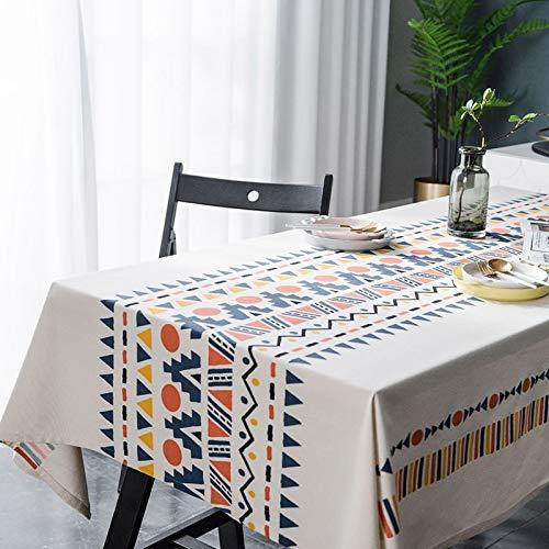 XXDD Mantel geométrico Colorido Impermeable a Prueba de Polvo Rectangular Cocina Mesa de Centro Mesa de Comedor Mantel Lavable A1 135x180cm