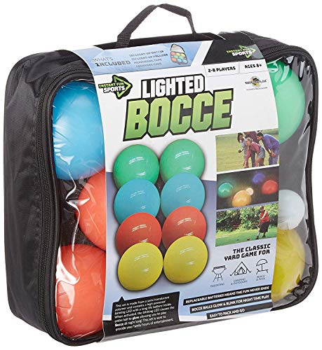 Water Sports Lighted Bocce Ball Set Regulation Size, Outdoor Glow In The...