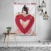 カスタマイズされたタペストリーネット赤diy部屋の壁カバー背景布インぶら下げ布装飾タペストリーnmb48山本彩(やまもと さやか Sayaka Yamamoto)パターン写真カスタマイズされた60 * 40in