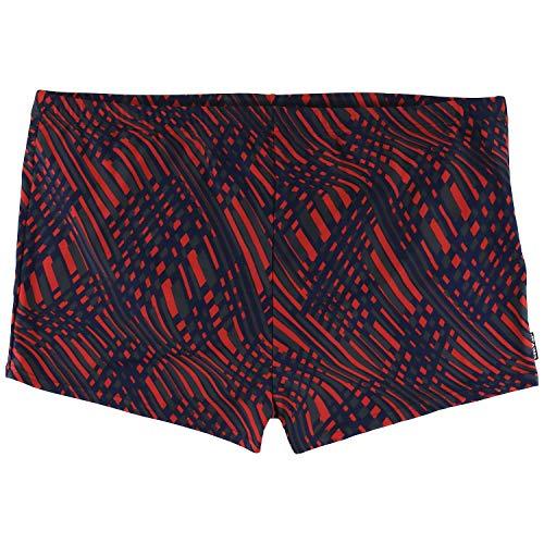 eleMar Herren Badehose Schwimmpant Pant in großen Größen anthrazit-royal-rot Mehrfarbig bis 9XL, Größe:6XL