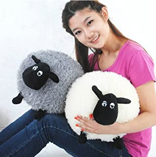 1 X 2 X Shaun the Sheep Plush Toys 30 Cm Spherical Soft Sean Sheep White and Gray