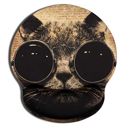 CHUQING Ergonomisches Mauspad mit Gelkissen Office Mousepad mit Handauflage Handgelenkauflage Katze