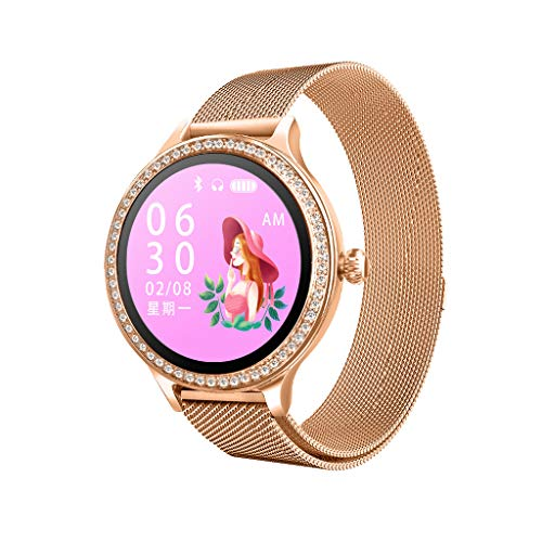 Kiarsan Luxury Leather Strap M8 Smart Watch Women Heart Rate Monitor Blood Pressure Equipment Show of by Choice Dimension