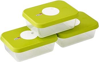 Joseph Joseph 81041 Dial Storage Rectangular Container Set with Datable Lid, 3-Piece