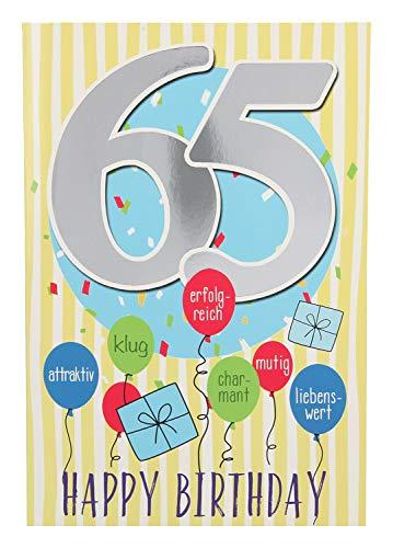 Depesche 5698.084 Glückwunschkarte mit Musik, 65. Geburtstag
