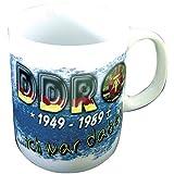 Kaffeebecher Kaffeetasse Keramiktasse mit hochwertigem Rundumdruck 'DDR 1949-1989' Kult NEU (57334)