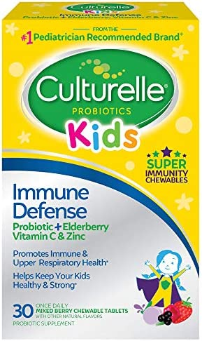 Culturelle Kids Immune Defense Probiotic Elderberry Vitamin C and Zinc Immune Support for Kids product image