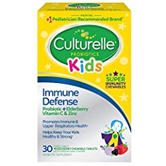 Super Immunity Formula: a powerful blend containing scientifically proven probiotics , along with naturally-sourced elderberry, plus Vitamin C and Zinc. It helps keep your little ones feeling their best all year long. Contains 100% of the single prob...