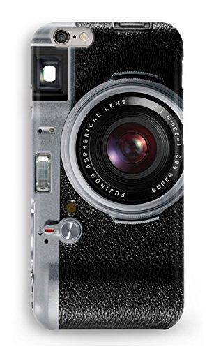 Protector Cristal Templado + Carcasa Camara Fotos Retro Vintage para iPhone 6 Plus 6PLUS plástico rígido