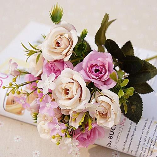 USADA 13heads zijde rozen bruid boeket bruiloft kerst decoratie voor thuis vaas decoratieve bloempot kunstmatige bloemen scrapbooking