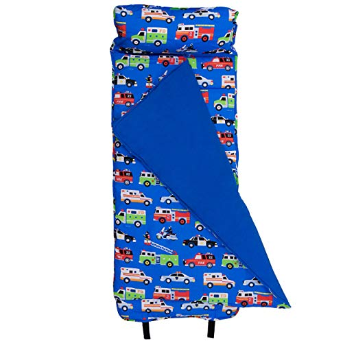 Wildkin Original Nap Mat with Pillow for Toddler Boys and Girls, Measures 50 x 20 x 1.5 Inches, Ideal for Daycare and Preschool, Mom's Choice Award Winner, BPA-Free, Olive Kids (Heroes)