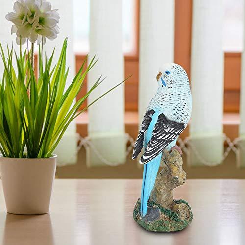 Modèle d oiseau Simulation Oiseau décoration de la Maison Bleu pour Salon Jardin Balcon Cour