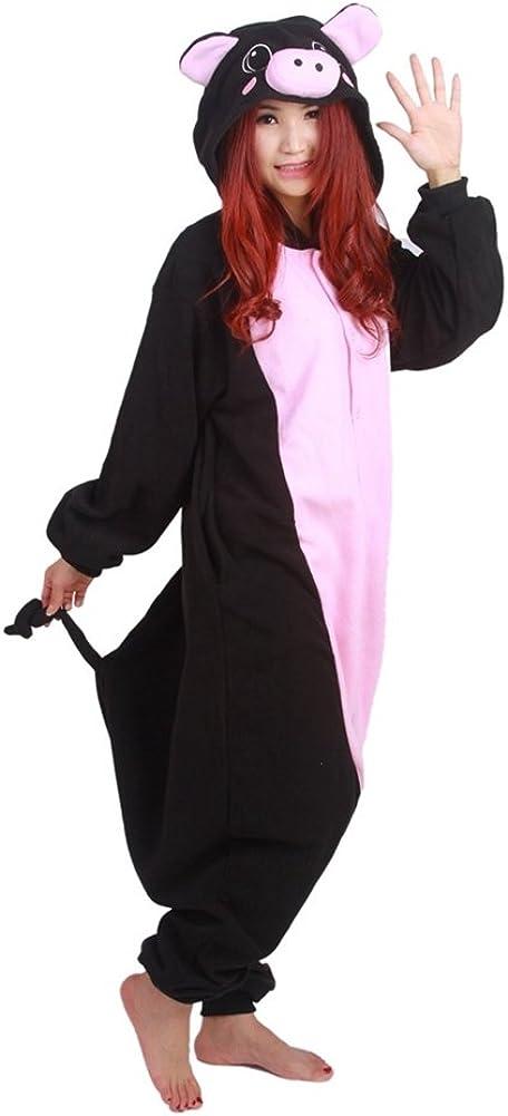 NEWPJS Unisex Adult Black Max 59% Elegant OFF Pig Pyjamas Piec One Costume Halloween