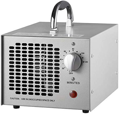 Generador de ozono comercial 3 500 mg limpiador portátil industrial O3 purificador de aire desodorante esterilizador con temporizador de 120 minutos y limpieza de 360 °-110 V