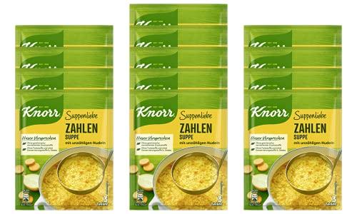 Knorr Suppenliebe Zahlen Suppe, 13 x 3 Teller (13 x 750 ml)