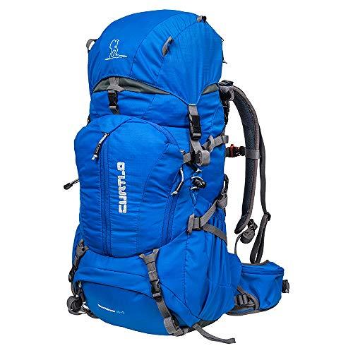 Mochila Cargueira Mountaineer 40+5L - Com Rain Cover Curtlo Azul