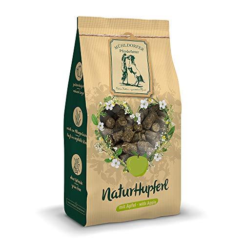 Mühldorfer NaturLiebe Apfel, 1 kg, naturgesunde Leckerli für Pferde, getreidefrei, ohne Melasse und Zusatzstoffe, zucker- und stärkereduziert