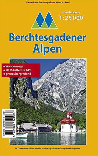 Berchtesgadener Alpen - Wanderkarte 1:25.000: Wanderwege - UTM-Gitter für GPS - grenzübergreifend